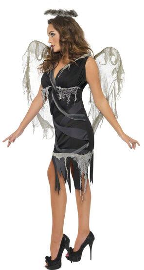 Sexy Black Fallen Angel Costume