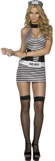 Sexy Jail Diva Convict Costume