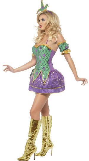 Sexy Mardi Gras Harlequin Clown Costume