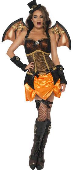Sexy Steampunk Victorian Clockwork Bat Costume