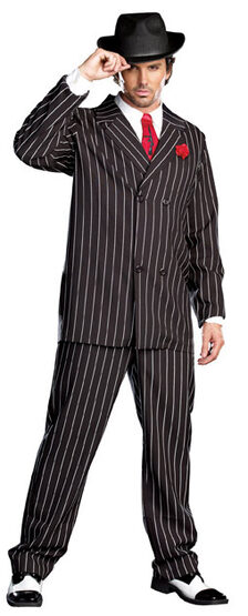 Mens Pin Stripe 1920s Gangster Adult Costume