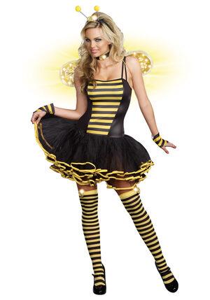 Sexy Light Up Buzzin Bumble Bee Beauty Costume