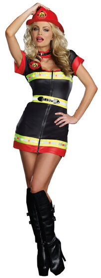 Sexy 911 Rescue Babe Firefighter Costume