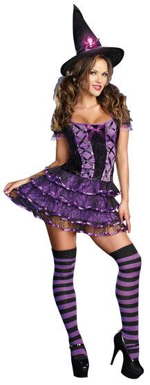Sexy Spellbound Purple Witch Costume