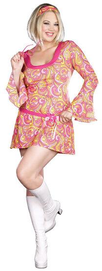 60s Go Go Gorgeous Plus Size Costume