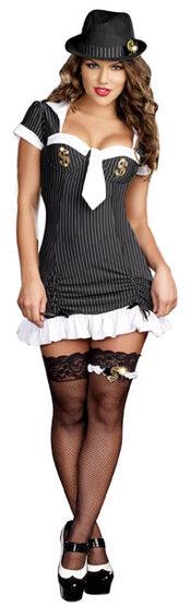 Sexy Money Honey Female Pimp Costume