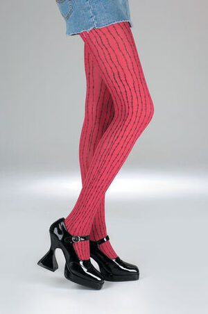 Adult Gothic Red Barbed Wire Pantyhose