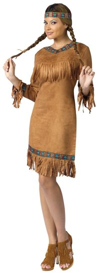 Womens Adult Indian Girl Costume