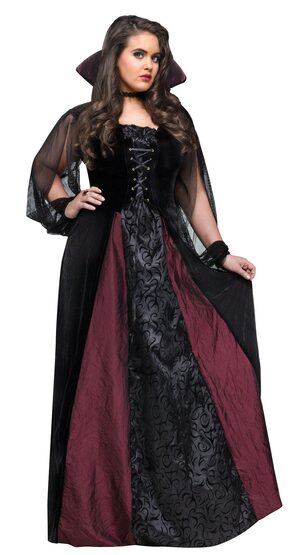 Gothic Vampire Maiden Plus Size Costume
