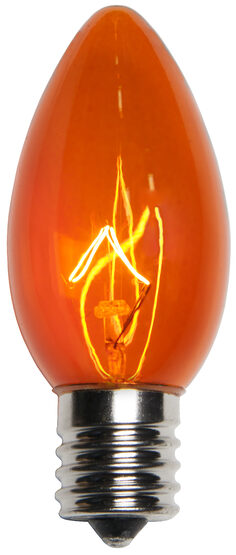 C9 Amber Triple Dipped Transparent Replacement Bulbs