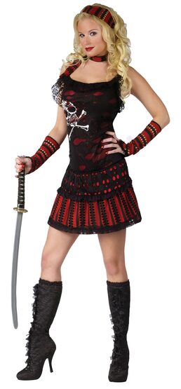Womens Skull Rocker Sexy Pirate Costume