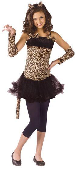 Girls Wild Cat Kids Costume