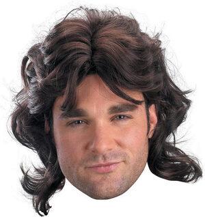 Mens Adult Mullet Wig