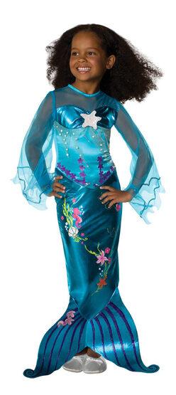 Blue Magical Mermaid Kids Costume