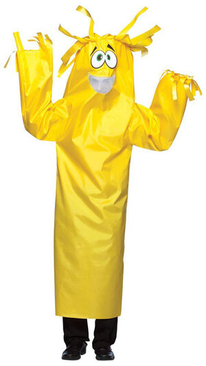 Yellow Wacky Wiggler Funny Adult Costume