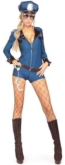 Miss Demeanor Sexy Cop Costume