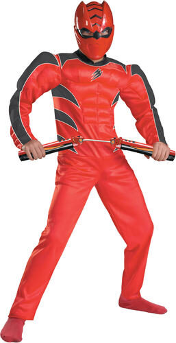 Kids Muscle Chest Red Power Ranger Costume