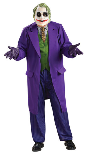 The Joker Costume Deluxe with Mask, Plus Size