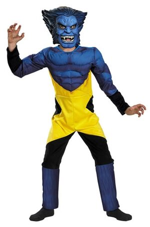 X Men Beast Muscle Chest Kids Costume
