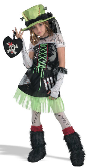 Monster Bride Gothic Kids Costume