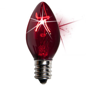 C7 Twinkle Purple Triple Dipped Transparent Replacement Bulbs
