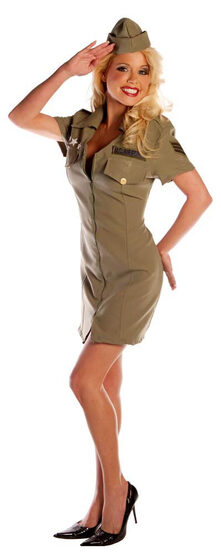 Fly Girl Sexy Military Pilot Costume