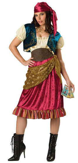 Womens Fortune Gypsy Costume
