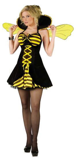 Womens Sexy Queen Bumble Bee Costume