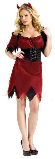 Womens Adult Dark Devil Costume