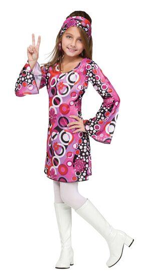 Kids Feelin Groovy Girls 70s Costume