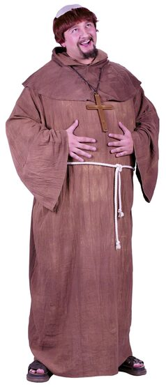 Mens Medieval Monk Plus Size Costume
