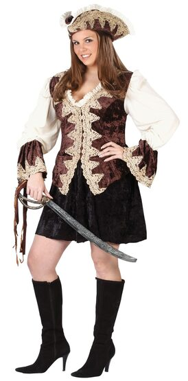 Royal Lady Plus Size Pirate Costume