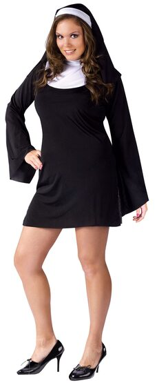Womens Naughty Nun Plus Size Costume