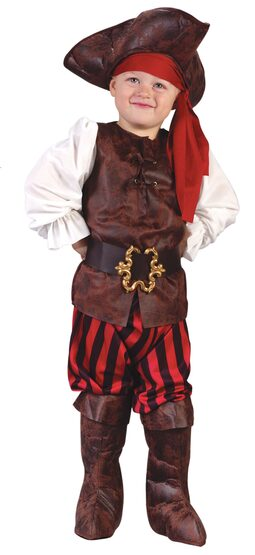 Kids Rustic Buccaneer Toddler Pirate Costume