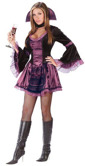 Womens Sassy Victorian Sexy Vampire Costume