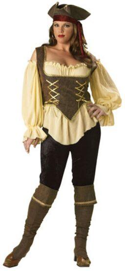 Rustic Pirate Lady Plus Size Costume