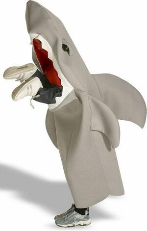 Man Eating Shark Kids Costume