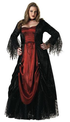 Womens Gothic Plus Size Vampire Costume