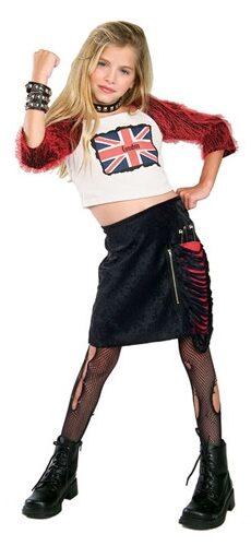 Union Jack Diva Gothic Kids Costume