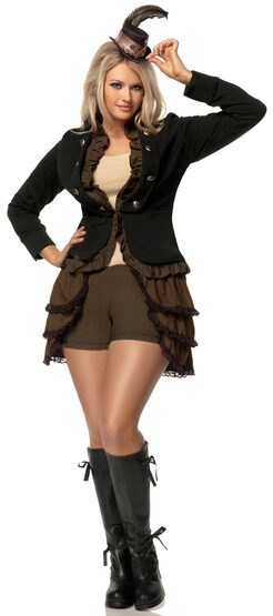 Steampunk Lady Historical Plus Size Costume