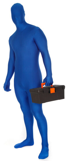 Blue Morphsuit Adult Costume