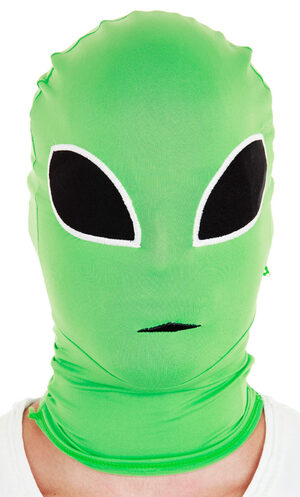 Green Alien Morph Mask