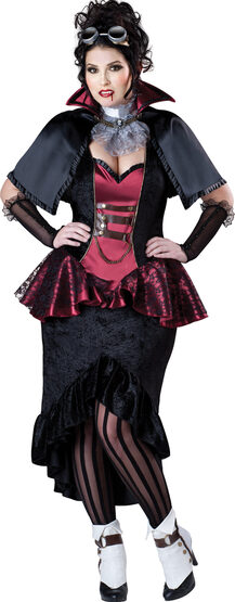 Steampunk Vampiress Plus Size Costume