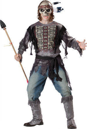 Scary Spirit Warrior Adult Costume