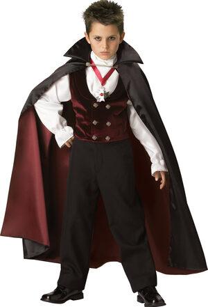Boys Gothic Vampire Kids Costume