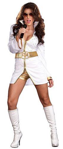 Sexy Queen of Rock Female Elvis Costume