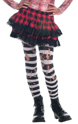 Ripped Striped Halloween Stockings Stocking