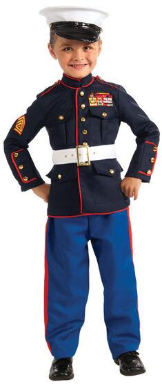 Mini Marine Military Kids Costume