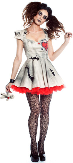 Sexy Scary Voodoo Doll Dalia Costume