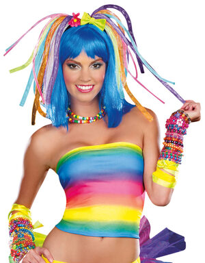 Cyber Gothic Rave Light Up Wig